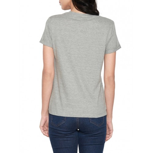 Globus grey printed regular tee