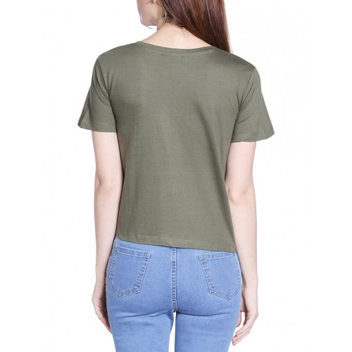 Globus green printed regular tee