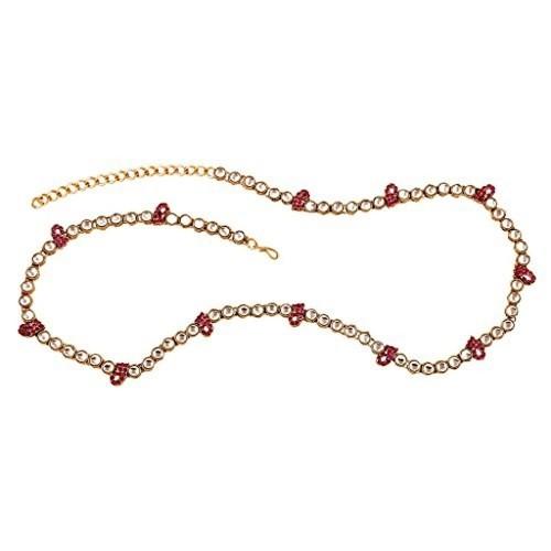 I Jewels Traditional Gold Plated Kundan & Stone Studded Kamarband for Women B007
