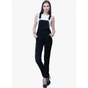 Faballey Black Solid Jumpsuit