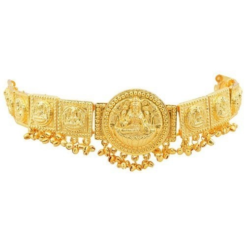 Multiline Company Traditional Gold finish Lakshmi round shaped belt for Women