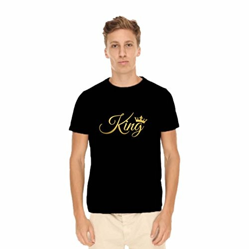 TYYC Valentine Gifts King Queen Couple Tshirts for Men Women | Husband Wife, Boyfriend Girlfriend