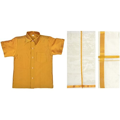 Minor Mappillai Boys' Silk Clothing Set