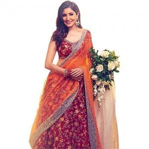 ShreeBalaji Collection Multicolour Heavy Bridal Wedding Lehenga Choli