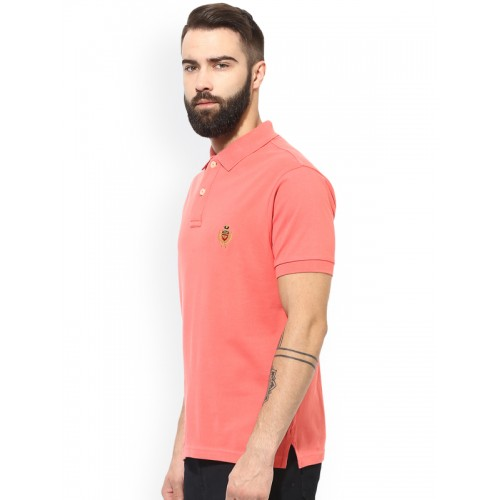 7c319a1913c Buy Red Tape Men Coral Orange Solid Polo Collar T-shirt online ...