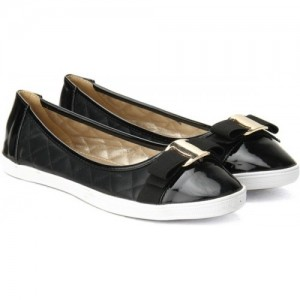Solovoga 169-HEBOW Black Synthetic Leather Bellies