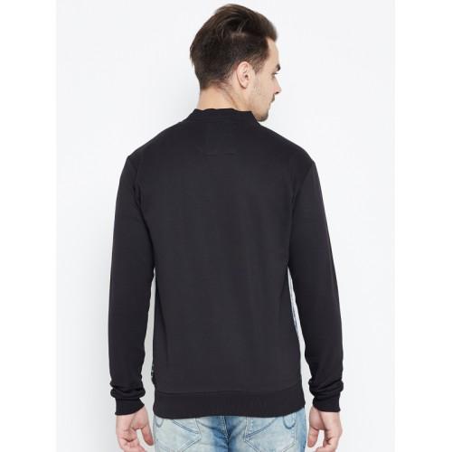 Status Quo Men Black & Grey Printed Sweatshirt