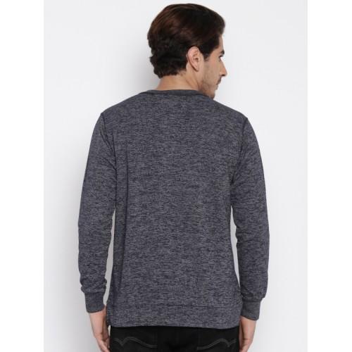 Status Quo Navy Henley Sweatshirt