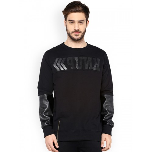 PUNK Black Printed Sweatshirt