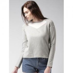 Mast & Harbour Grey Melange Sweatshirt