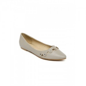 Addons Women Grey Flat Shoes