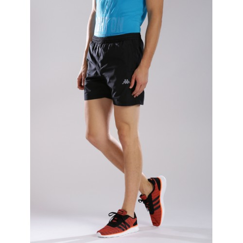 Kappa Black Solid Sports Shorts