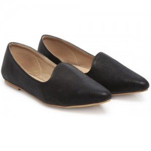 TEN Black Synthetic Leather Bellies