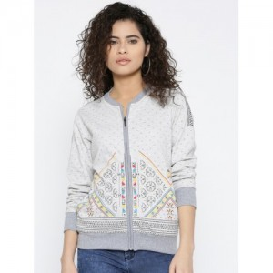 Monte Carlo Women Grey Printed Sweatshirt