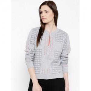 United Colors of Benetton Grey Melange Sweatshirt