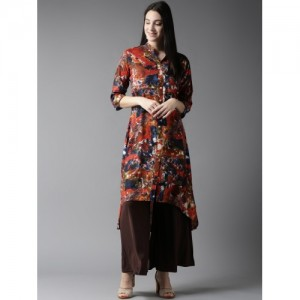 HERE&NOW Women Multicoloured Printed A-Line Kurta
