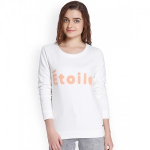Vero Moda Women White Cotton Sweatshirt