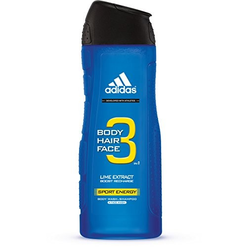 Adidas Male Personal Care 3 In 1 Body Wash, Sporty Energy, 16 Fluid Ounce