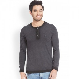 426c324a3413 Buy Spykar Yellow Solid Regular Fit V Neck T-Shirt online | Looksgud.in