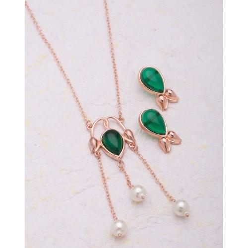 Voylla Gorgeous Pearl Embellished Necklace Set