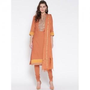 Biba Orange Poly Cotton Straight Suit Set