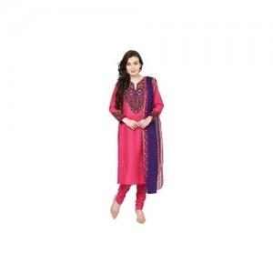 Biba Pink Straight Cotton Suit Set