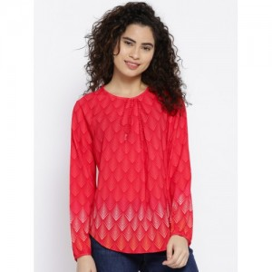 OPt Women Red Printed Top