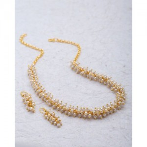 Voylla Pearl Beaded Traditional Necklace Set For Women
