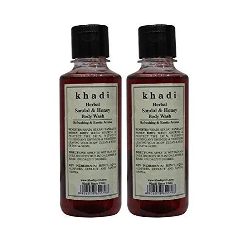 Khadi Sandal and Honey Body Wash, 210ml