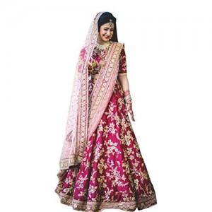 Fabron Bridal Semi Velvet Lehenga Choli With Heavy Lace Work On Dupatta