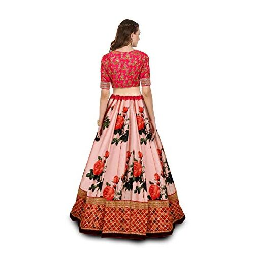 Zeel Clothing Multicolor Embroidered Silk Lehenga Choli