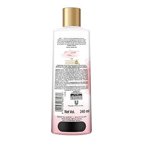 Lux Soft Touch Silk Essence & Rose Infusion Moisturising Body Wash, 240ml
