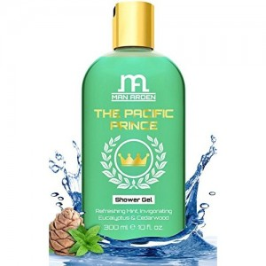 Man Arden Luxury Body Wash - The Pacific Prince Shower Gel - 300 ml (Mint, Eucalyptus Oil & Cedarwood)