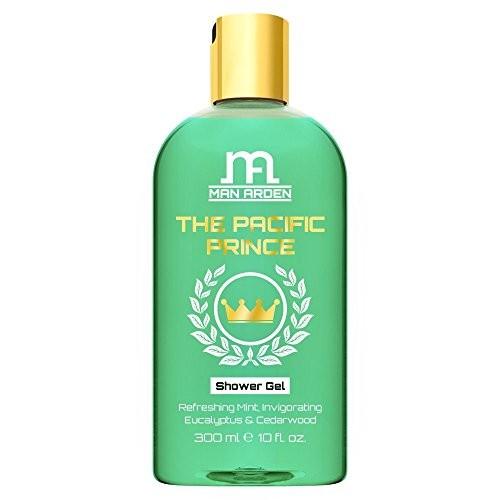 Man Arden Luxury Body Wash - The Pacific Prince Shower Gel - 300 ml (Mint, Eucalyptus Oil & Cedarwood)