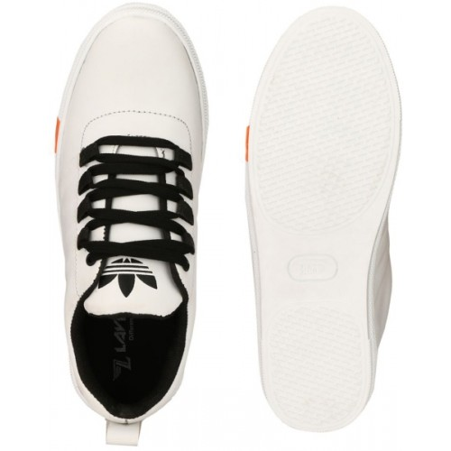 Lejano White Artificial Leather Lace Up Sneakers