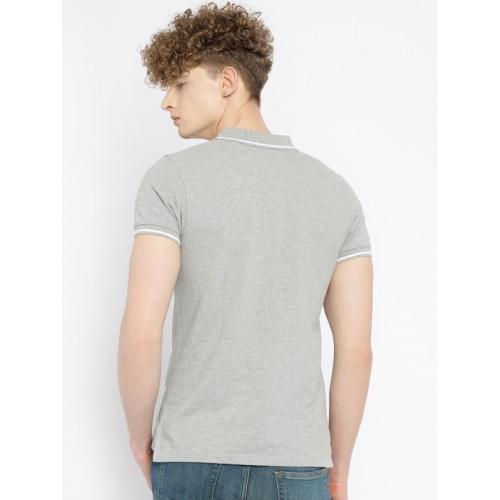 574fc2b67d11ad Buy Vans Men Grey Melange Striped Polo T-shirt online