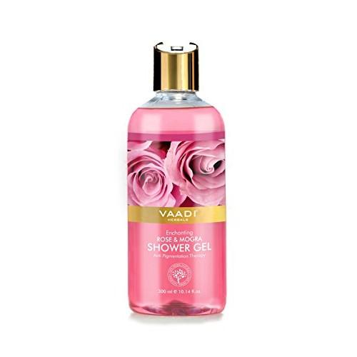 Vaadi Herbals Enchanting Shower Gel, Rose and Mogra, 300g (Pack of 2)