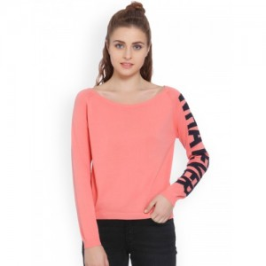 Only Peach Printed Sweater
