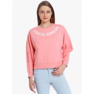 Only Pink Printed Sweatshirt