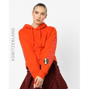 TALLY WEiJL Hooded Sweatshirt with Drop-Shoulder Sleeves