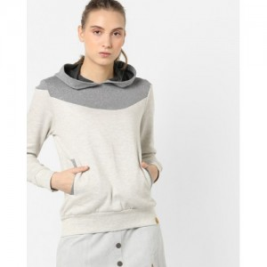 Campus Sutra Colourblock Pullover with Hoodie