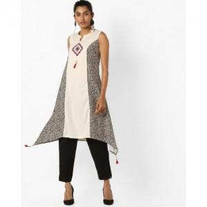AVAASA SET Kurta Suit Set with Asymmetric Hem