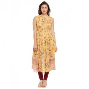 RITU KUMAR Yellow Viscose Georgette Kurta