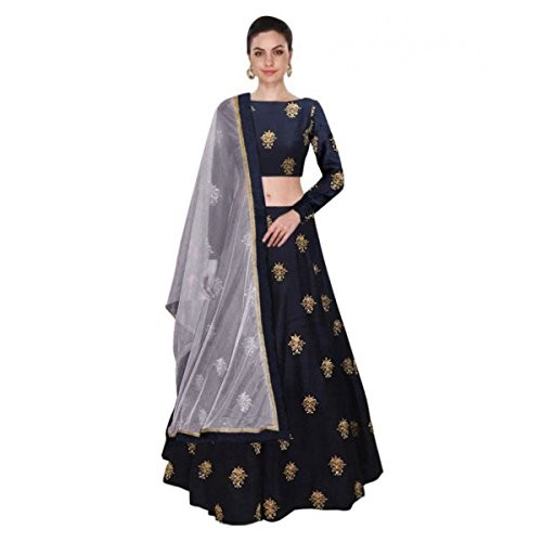 New Designer Navy Blue Colour Benglori Silk Material Lehengha