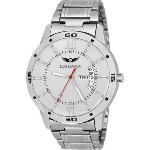Lois White Metal Round Dial Watch
