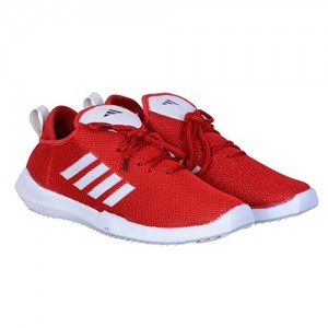 Johnnie Red Mesh Sports Shoes