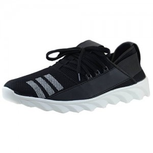 Sprinkler Men's Black Canvas Running Shoes