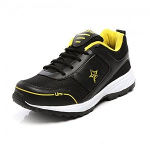 Unistar Black & Yellow Sports Shoes- Running Shoes - Training Shoes - Extra Comfort InnerSole
