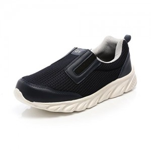 Unistar NavyBlue & LightGrey Extra Cushioned Slip on Sport Shoes - Running Shoes - Waking Shoes