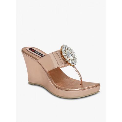 Get Glamr Gold Wedges Heels discount 2014 unisex vlnL2rwS